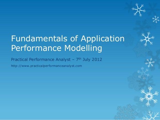 Primer on application_performance_modelling_v0.1