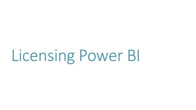 Licensing Power BI
