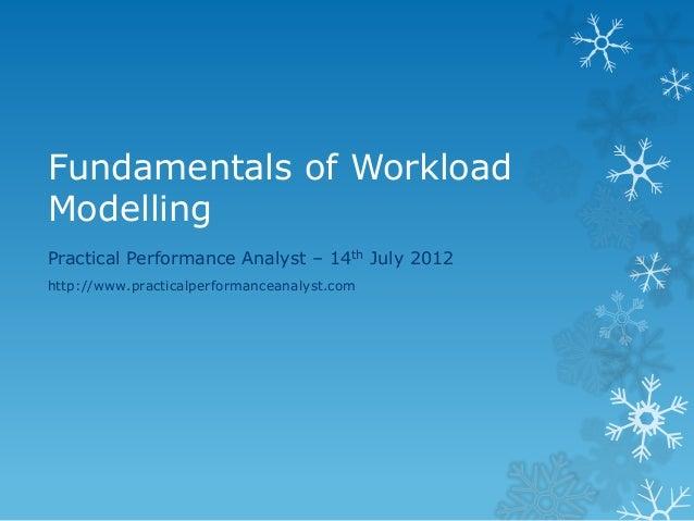 Fundamentals of Workload Modelling  Practical Performance Analyst – 14th July 2012  http://www.practicalperformanceanalyst...