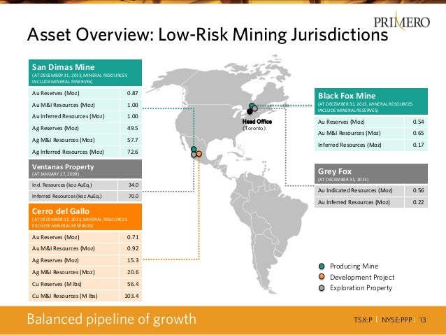 TSX:P I NYSE:PPP I 13 Builds on Established Presence in Mexico San Dimas Mine (AT DECEMBER 31, 2013, MINERAL RESOURCES INC...