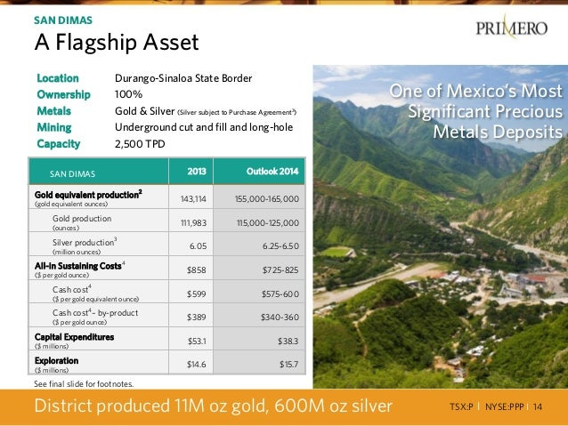 TSX:P I NYSE:PPP I 14 Location Durango-Sinaloa State Border Ownership 100% Metals Gold & Silver (Silver subject to Purchas...