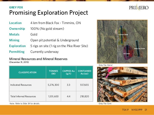 TSX:P I NYSE:PPP I 21 CERRO DEL GALLO INCREASES PRIMERO'SPRODUCTION BY 60%12 Location 4 km from Black Fox - Timmins, ON Ow...