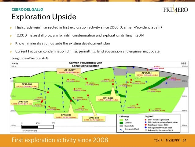 TSX:P I NYSE:PPP I 24 o High grade vein intersected in first exploration activity since 2008 (Carmen-Providencia vein) o 1...