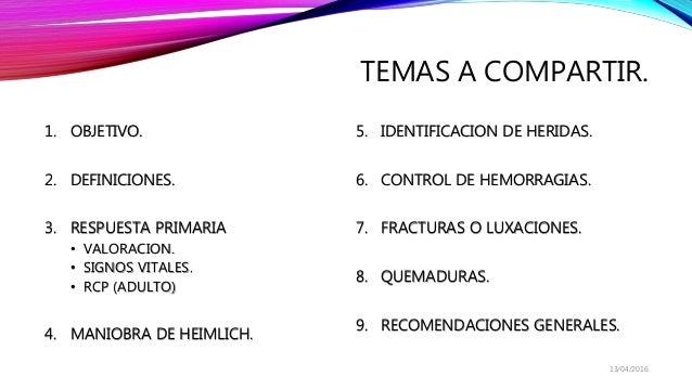 Primeros auxilios basicos. Slide 2