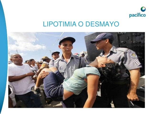 LIPOTIMIA O DESMAYO  posición de trendelemburg