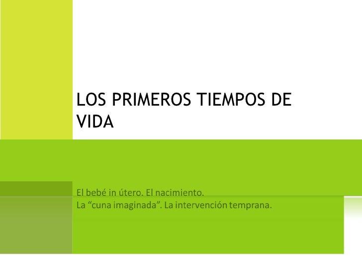 LOS PRIMEROS TIEMPOS DE VIDA