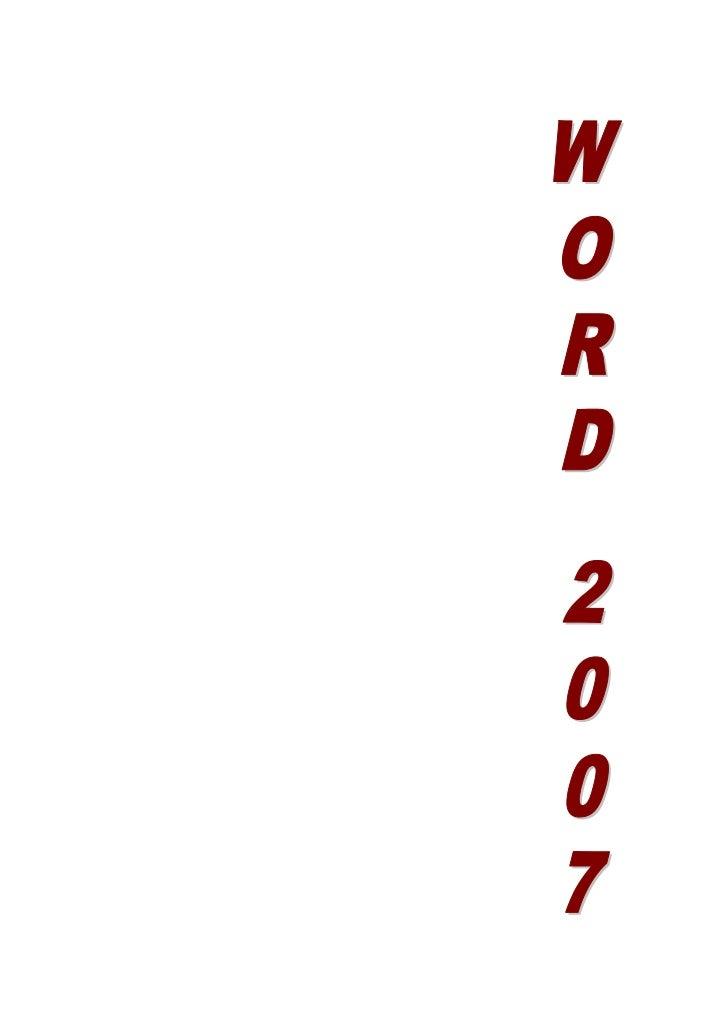 Unidad 1. Elementos de Word2007<br />Distintas formas de arrancar Word2007<br />Hay varias formas de arrancar Word.<br />D...