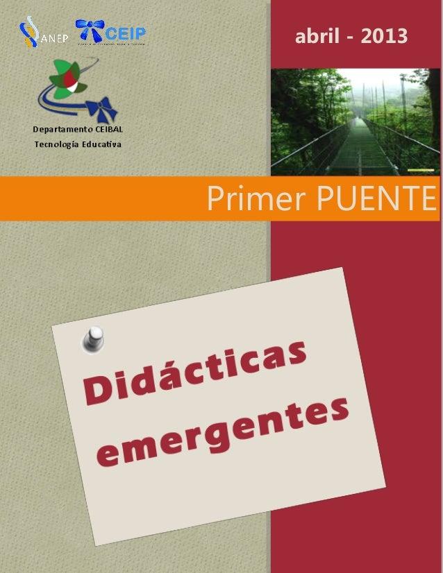 Primer PUENTEabril - 2013