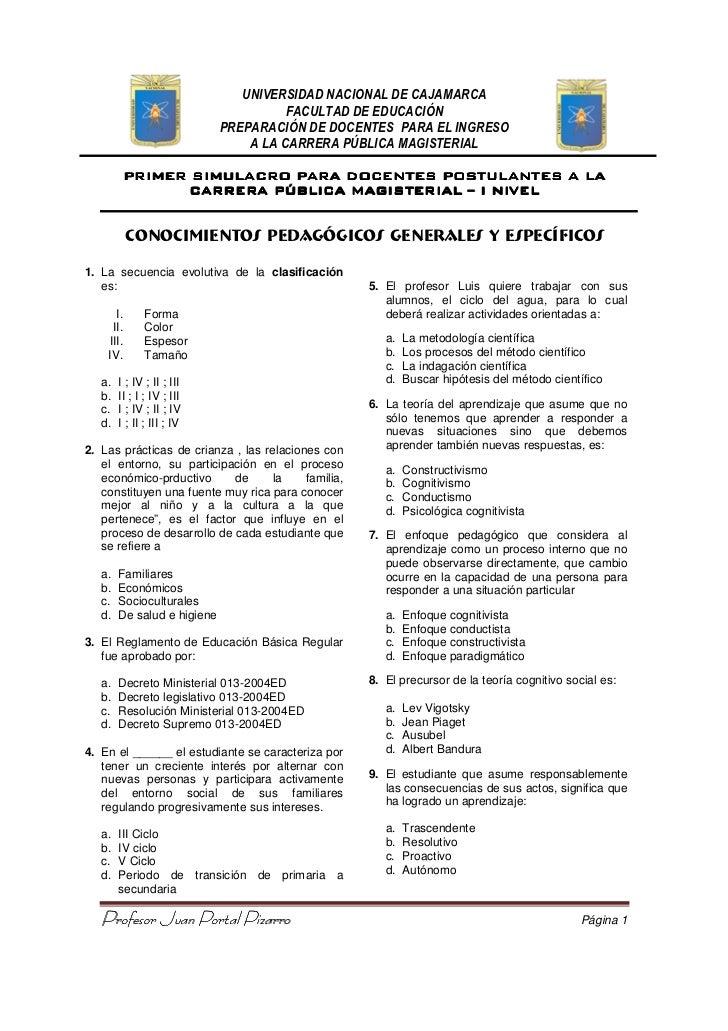 UNIVERSIDAD NACIONAL DE CAJAMARCA                                       FACULTAD DE EDUCACIÓN                             ...