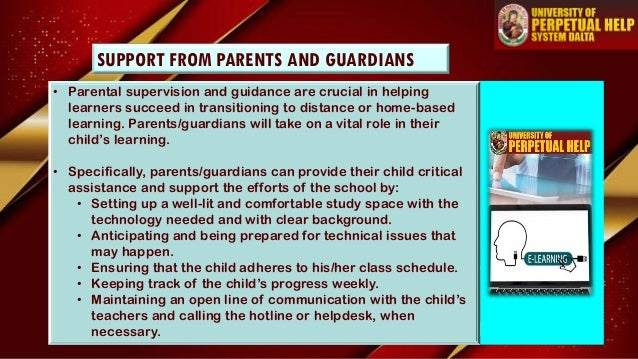 • Parental supervision and guidance are crucial in helping learners succeed in transitioning to distance or home-based lea...