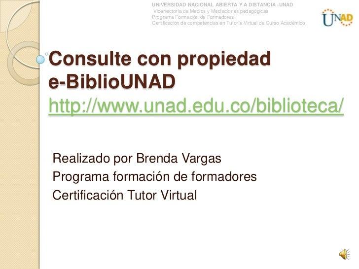 UNIVERSIDAD NACIONAL ABIERTA Y A DISTANCIA -UNAD               Vicerrectoría de Medios y Mediaciones pedagógicas          ...