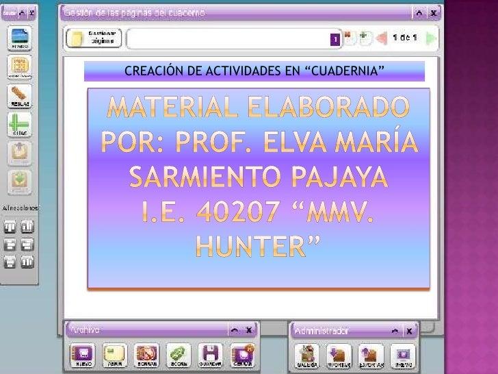 """CREACIÓN DE ACTIVIDADES EN """"CUADERNIA"""""""