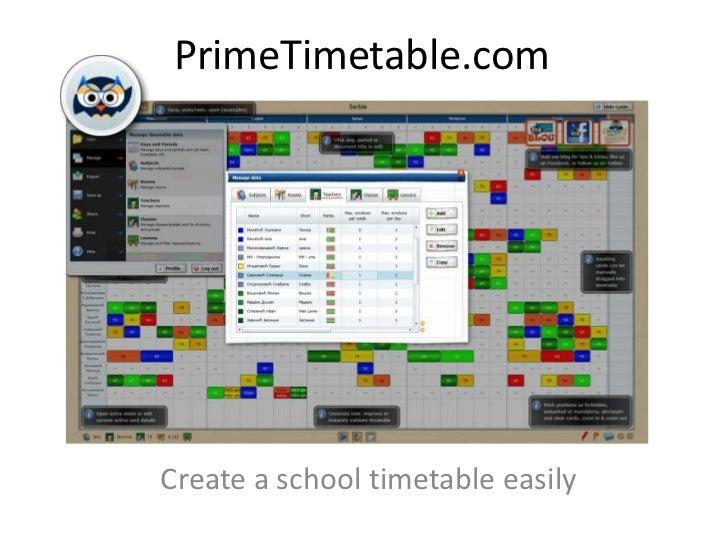 PrimeTimetable.comCreate a school timetable easily