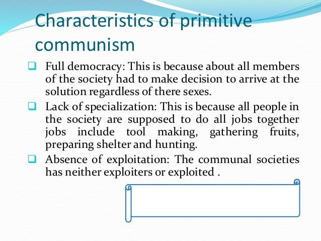 primitive communism