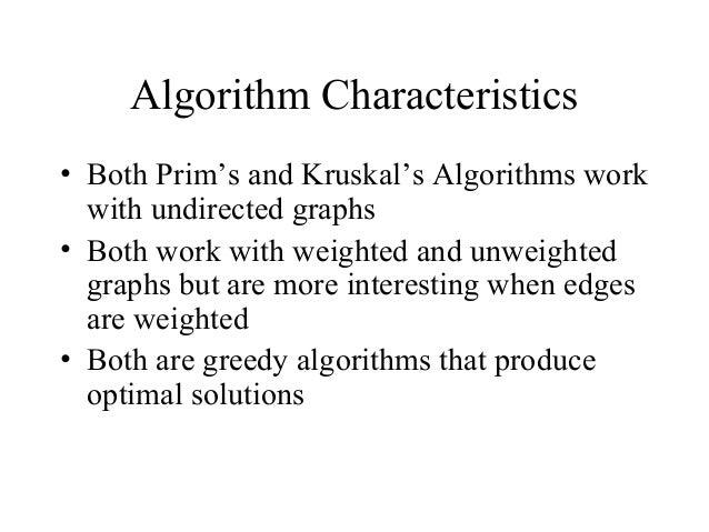 Prim Algorithm and kruskal algorithm Slide 3