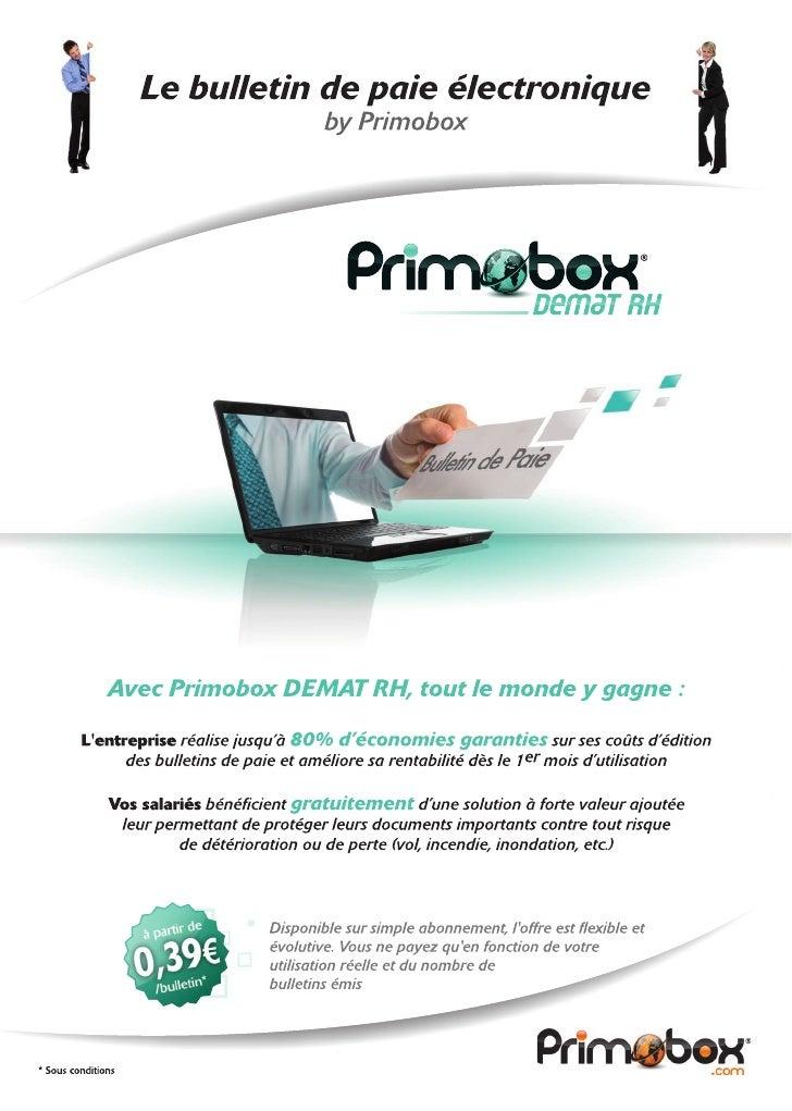 Primobox Demat RH - Bulletins de paie électroniques