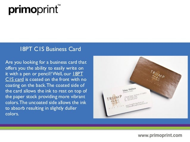 The different types of business cards 11 18pt c1s business card colourmoves