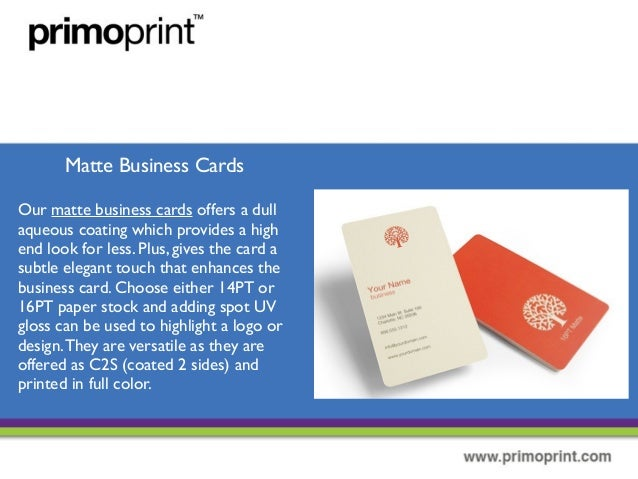 The different types of business cards 9 matte business cards colourmoves