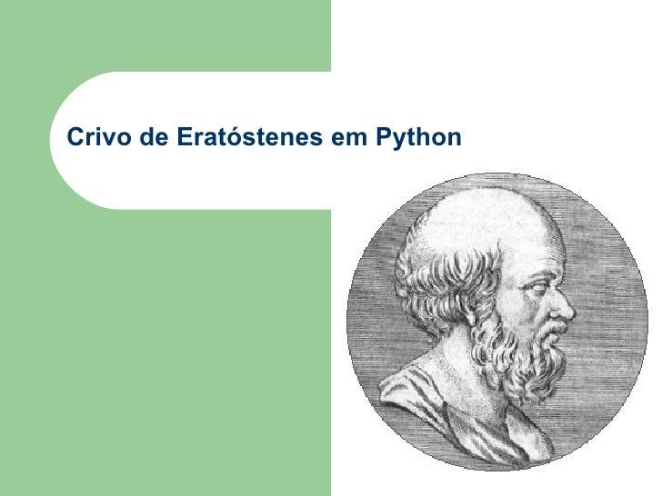 Crivo de Eratóstenes em Python
