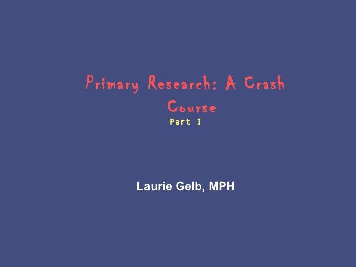 Survey research crash course