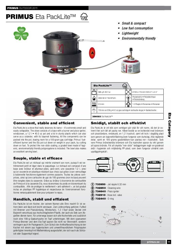 Pot Primus Essential Stove Set 2,3 L cuisson Cartouches Réchaud Incl