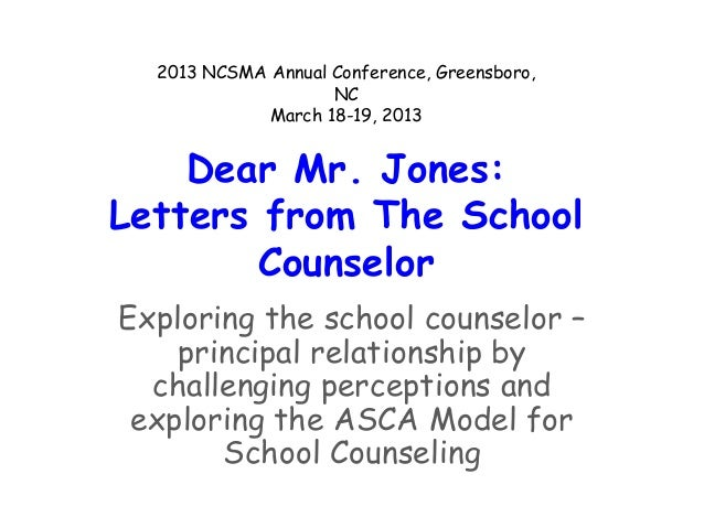 2013 NCSMA Annual Conference, Greensboro,                    NC             March 18-19, 2013    Dear Mr. Jones:Letters fr...
