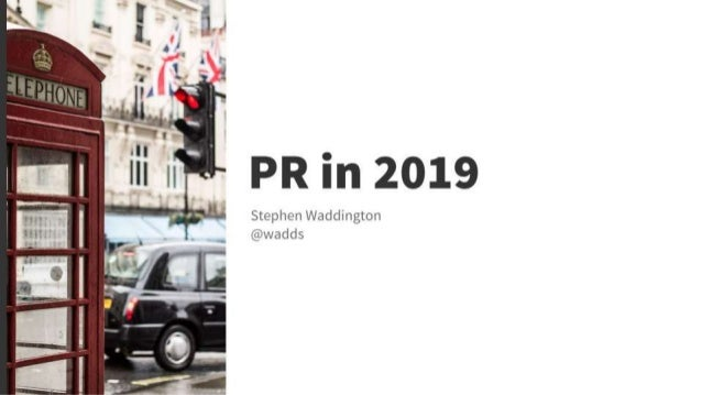 Public relations in 2019