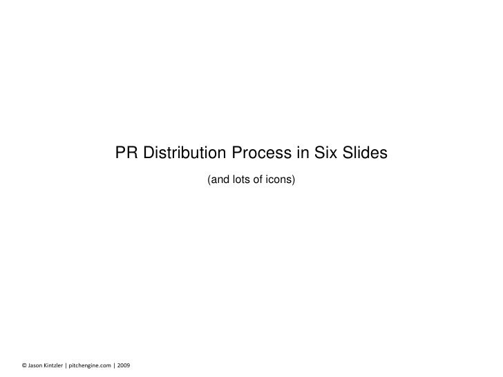 PR Distribution Process in Six Slides<br />(and lots of icons)<br />