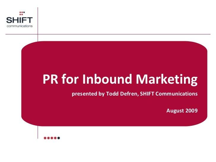 #12 IMU: PR for Inbound Marketing (GF402) Slide 2