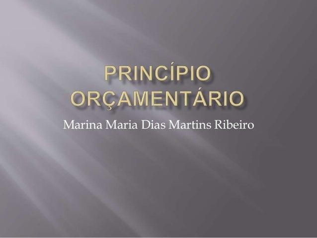 Marina Maria Dias Martins Ribeiro