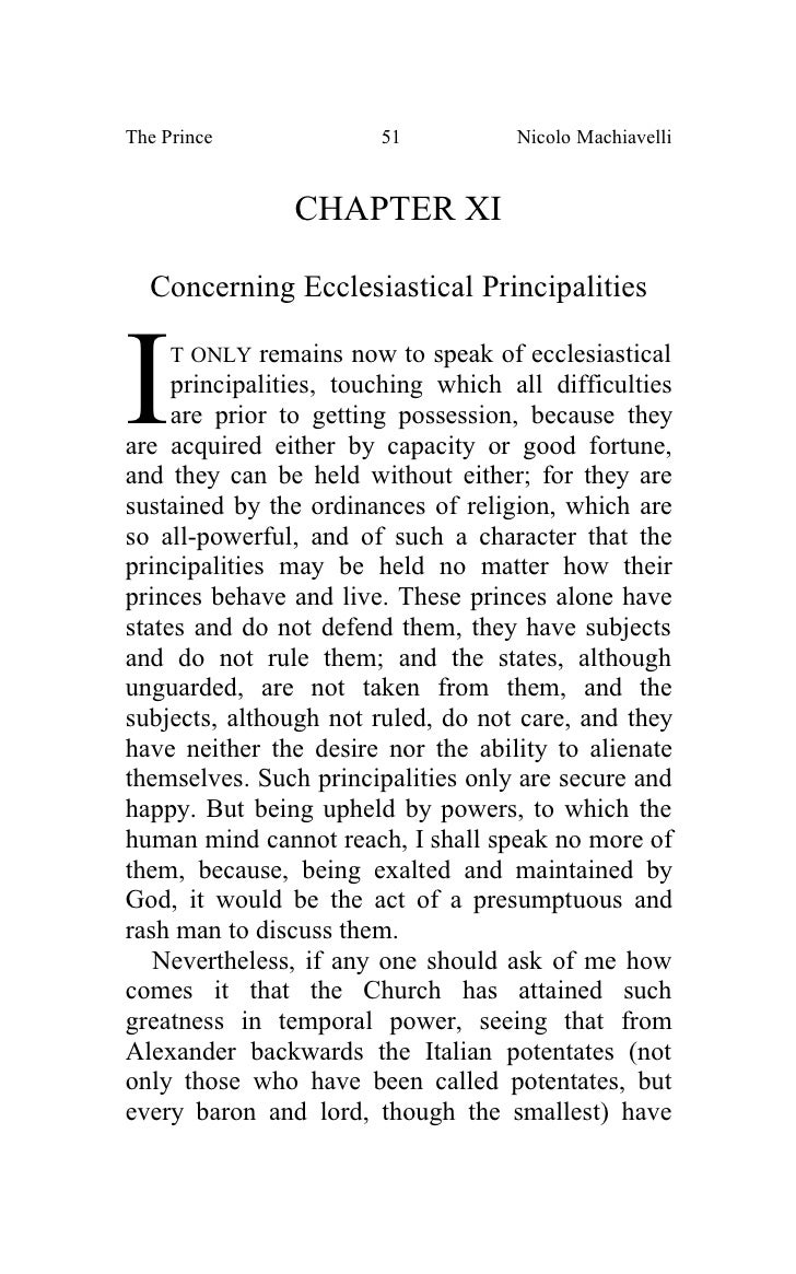 machiavelli ecclesiastical principalities  of ghana's 1992 constitution: a machiavellian new principality in a   ecclesiastical principalities referring to the papal states belonging to.