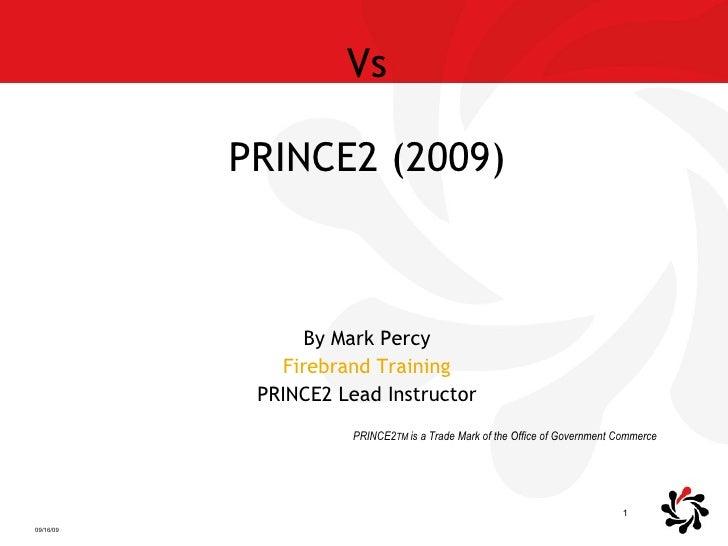 Prince2 2005 Vs 2009