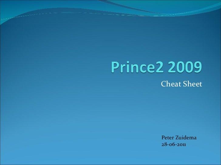 Cheat Sheet Peter Zuidema 28-06-2011