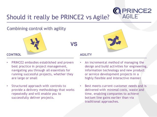 Prince2 agile why is another project management guide for Project management vs agile