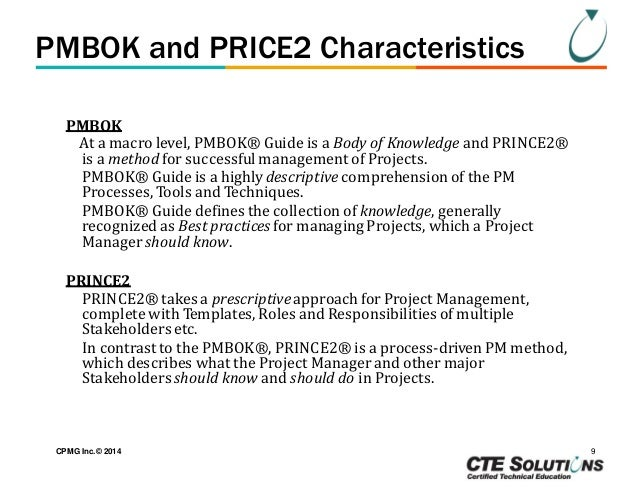 Prince2 & PMBOK Comparison Demystified