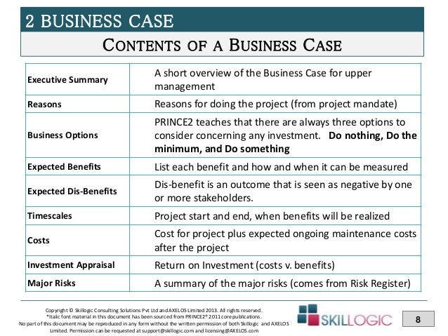 Prince2 practitioner course training part 3 8 2 business case flashek Image collections