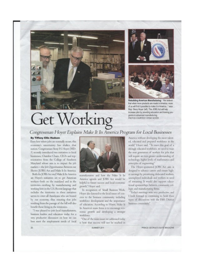 Prince George's Suite Magazine: Get Working