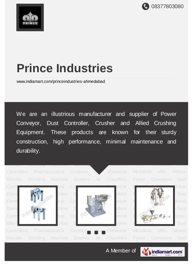 08377803080A Member ofPrince Industrieswww.indiamart.com/princeindustries-ahmedabadPharmaceutical Crushers Mini Pulverizer...