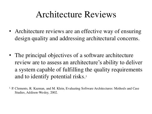 architecture review software