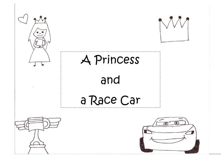 A Princess and a Race Car