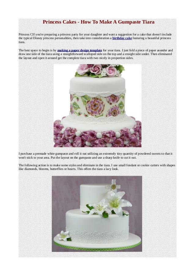 Terrific Princess Cakes How To Make A Gumpaste Tiara Funny Birthday Cards Online Amentibdeldamsfinfo