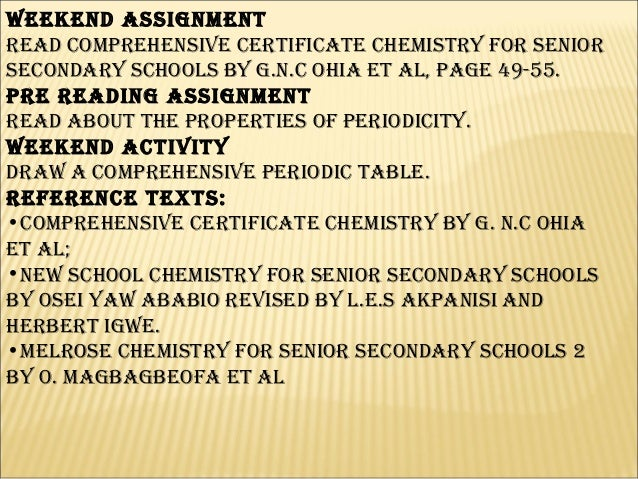 Odeyemi augustine sunkanmi med dlhs ph 15 weekend assignment read comprehensive certificate chemistry for senior secondary schools fandeluxe Images