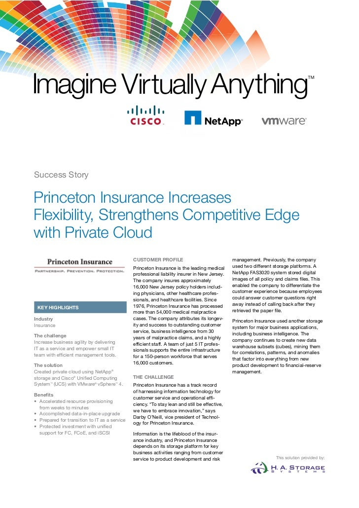 Success StoryPrinceton Insurance IncreasesFlexibility, Strengthens Competitive Edgewith Private Cloud                     ...