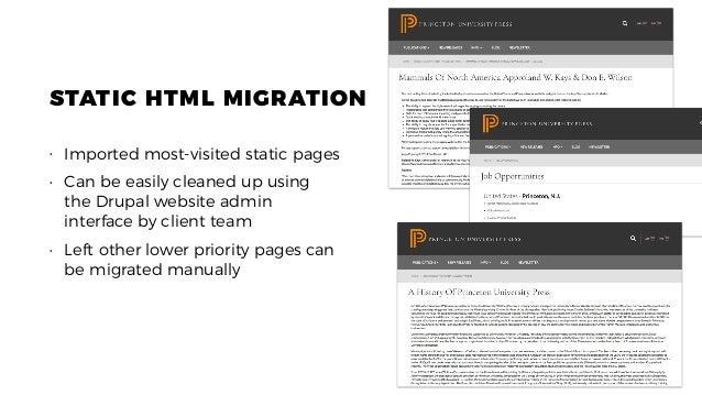Princeton University Press to Drupal 8: Migration case study by Evolv…
