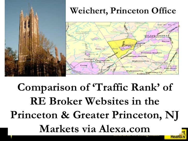 Weichert, Princeton Office Comparison of 'Traffic Rank' of RE Broker Websites in the Princeton & Greater Princeton, NJ Mar...