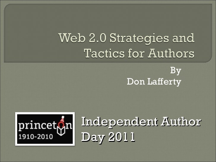 By Don Lafferty Independent Author Day 2011