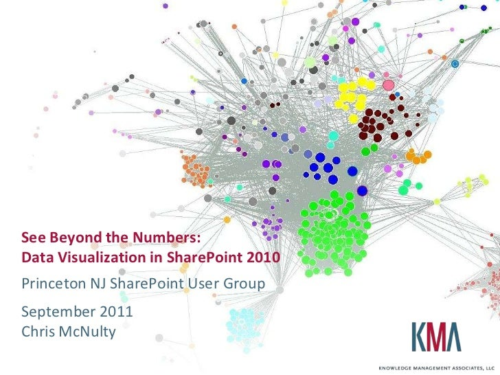 See Beyond the Numbers:Data Visualization in SharePoint 2010<br />Princeton NJ SharePoint User Group<br />September 2011Ch...