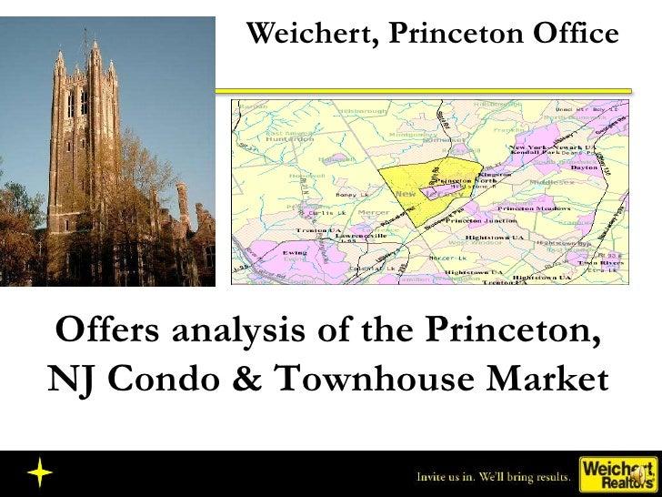 Weichert, Princeton Office Offers analysis of the Princeton, NJ Condo & Townhouse Market