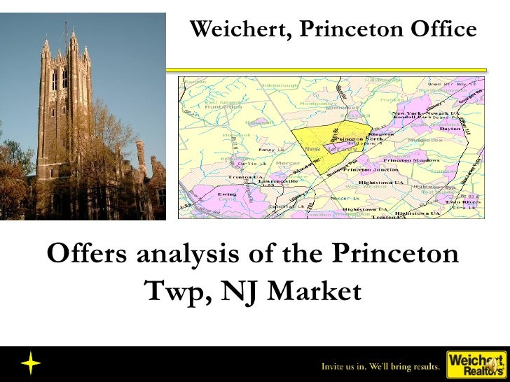 Weichert, Princeton Office Offers analysis of the Princeton Twp, NJ Market