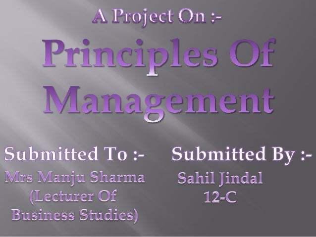 Principles of management ppt presentations.